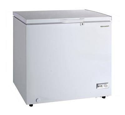 Sharp 400.0L Chest Freezer Frost White.