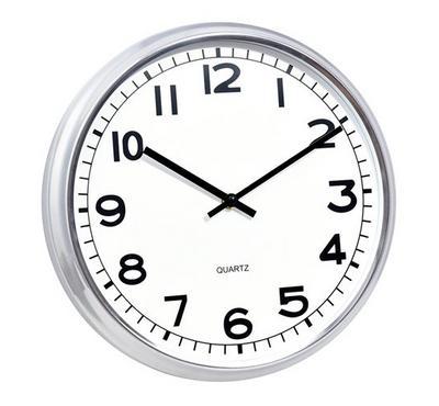 Class Home 12 inch Quartz Wall Clock Metal