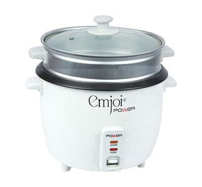 Emjoi Power 0.6L Rice Cooker With Steamer 700W White