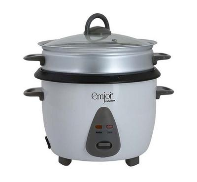 Emjoi Power 1.8L Rice Cooker With Steamer 700W White