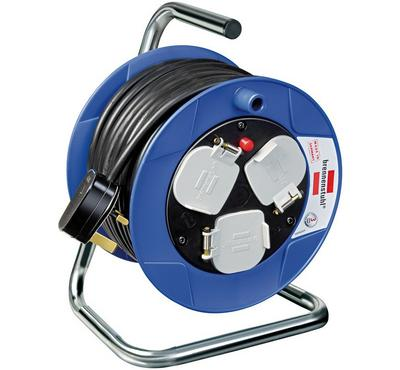Brennenstuhl COMPACT 15m Cable Reel 3-BS Socket Plastic Blue