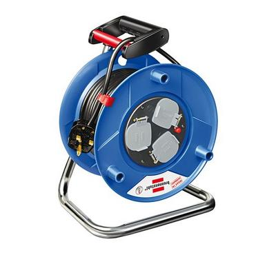 Brennenstuhl GARANT 25m Cable Reel 3-BS Socket Plastic Blue