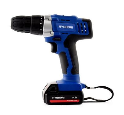 Hyundai Cordless Drill 10mm 14.4v 2battery 1500mah 2speed