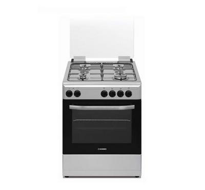 Hommer 60x60 full safety Freestanding Cooker, 4 Gas Euro Pool Burner, Gas Oven and Gas Grill, Inox
