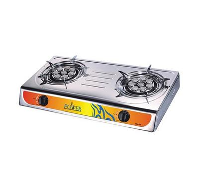 Power 2 Burner Gas Stove Stainless Steel