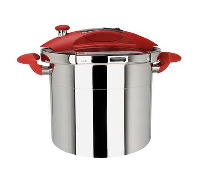 Sitram SITRASPEEDO, 24cm 10.0L Pressure Cooker, Red/Stainless