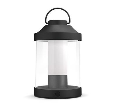PHILIPS Abelia Portable Lantern IP44, 2700K, DIM, 350LM, Black