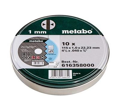 Metabo 10 Pcs 4.5 inch - 1mm Cutting Wheel