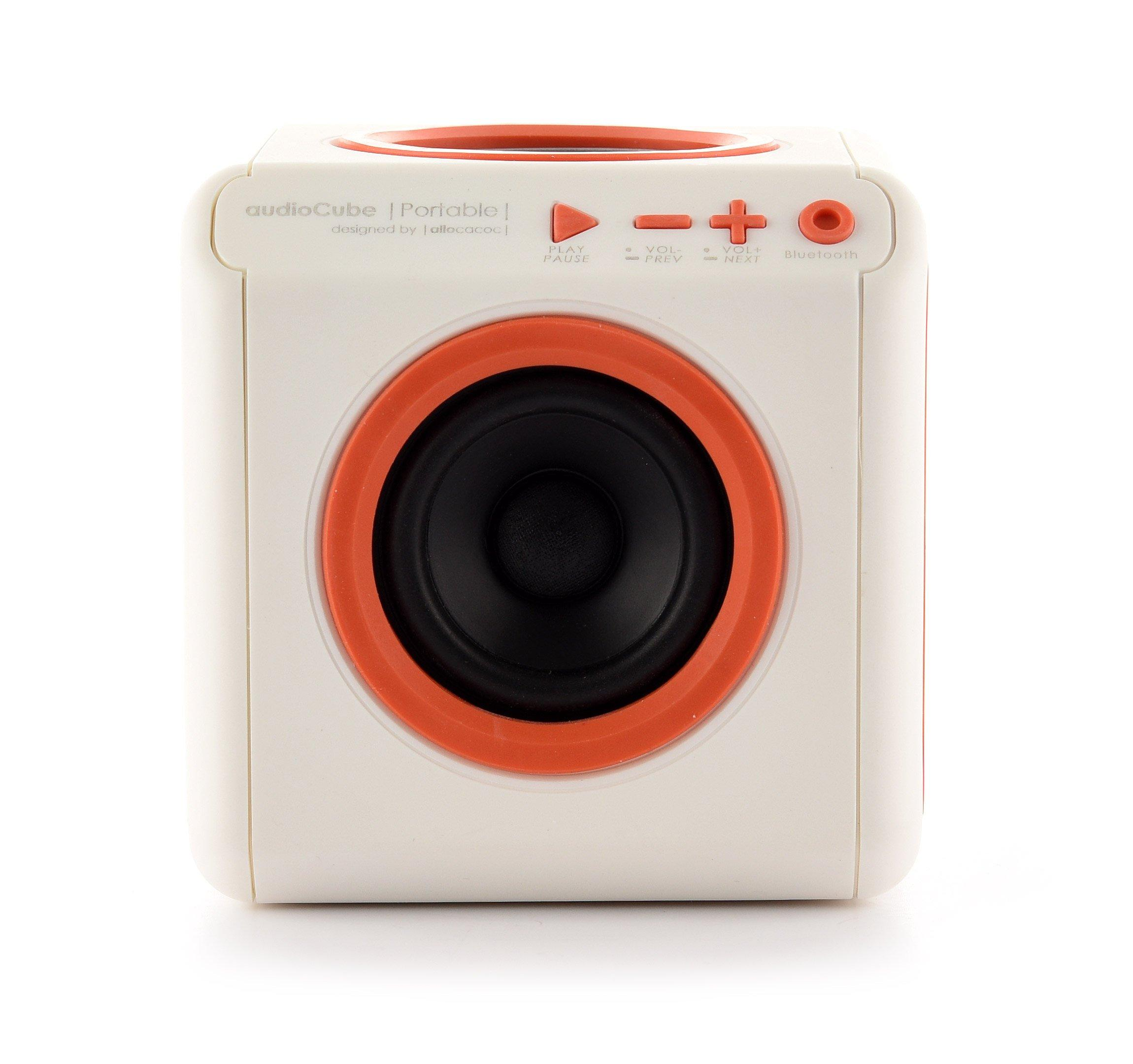 ALLOCACOC AudioCube Portable UK, Bluetooth, White
