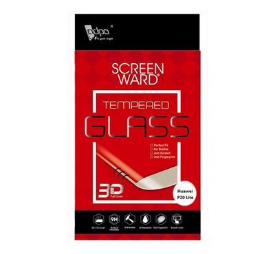 Adpo 3D Tempered Glass Screen Protector For Huawei P20 Lite 3D, Black