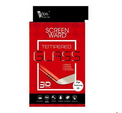 Adpo 3D Tempered Glass Screen Protector For Samsung A8