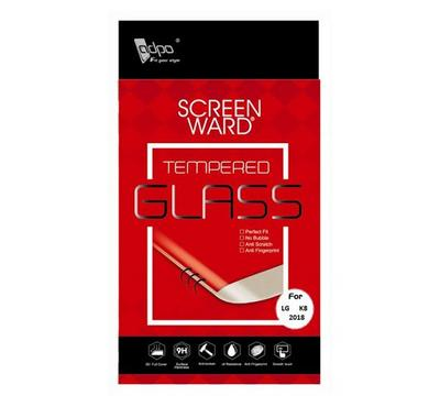Adpo 2.5D Tempered Glass Screen Protector For LG K8 2018, Clear