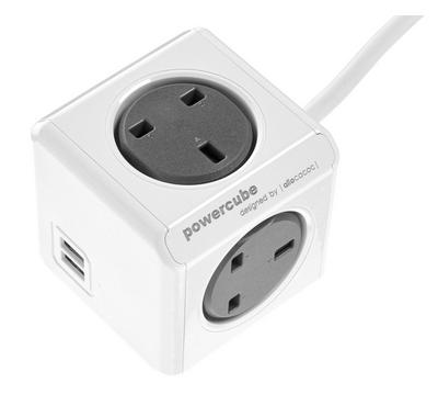 ALLOCACOC PowerCube Extended 1.5M, 4 Outlets, 2 USB