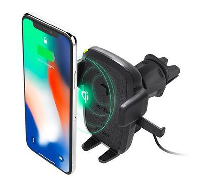 iOttie Easy One Touch Wireless Qi Fast Charging Vent Mount, Black