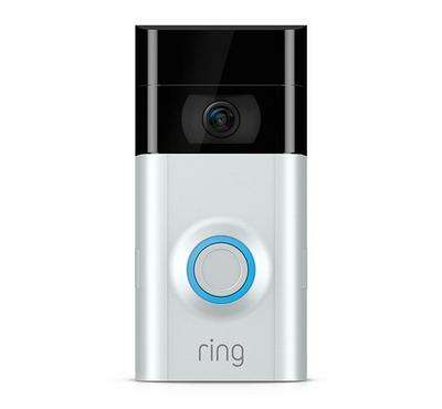 Ring Video Doorbell V2, Black Silver