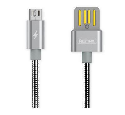 Remax SERPENT, 1.0m USB To MicroUSB Data Cable, Silver