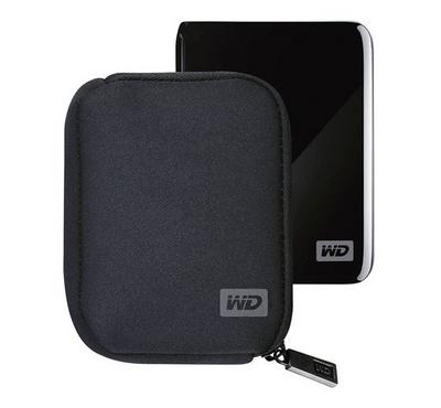 Western Digital My Passport & Elemant Carrying Case, Black