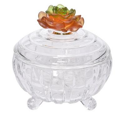 La Mesa Bowl With 1 Pc Amber Crystal