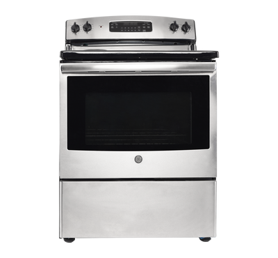 GE Free Standing Electric Range, 30 Inch, 4 Coil, Stainless Steel
