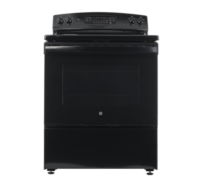 GE Free Standing Electric Range, 30 Inch, 4 Coil, Black