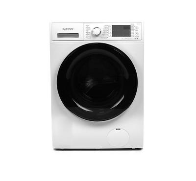 Daewoo Front Load Fully Automatic Washer and Dryer, 9kg / 6kg , Inverter Motor, White