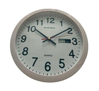 Qumex Round Wall Clock with Date