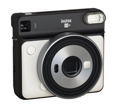 FUJIFILM instax SQUARE SQ6 Instant Film Camera, Pearl White