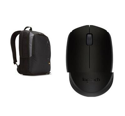 Caselogic VNB217 Backpack plus M171 logitech wireless mouse black