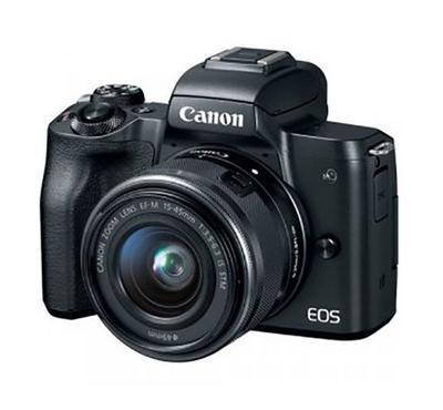 CANON EOS M50 15-45 STM, 24 Megapixels, Shutter speed 1/4000, Black