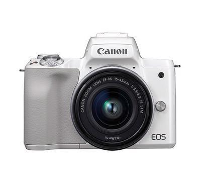 CANON EOS M50 15-45 STM, 24 Megapixels, White