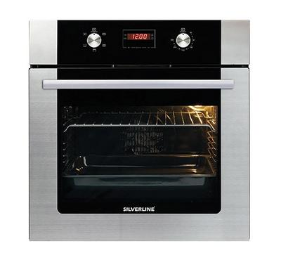Silverline 60cm Built-in Electric Oven With Grill Stainless