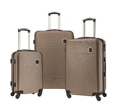 TRAVEL GEAR Horizon Set of 3 ABS Trolley Case, Size 20/26/30 inch, Champagne