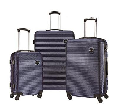 TRAVEL GEAR Horizon Set of 3 ABS Trolley Case, Size 20/26/30 inch, Blue