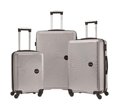Travel Gear Jazz Set of 3 ABS Trolley Case, Size 20/26/30 inch, Silver