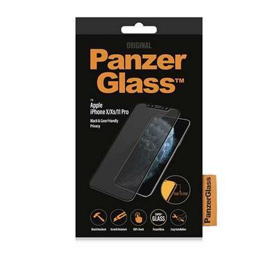 بانزرجلاس حماية لشاشة أيفون إكس/ إكس إس، زجاجي شفاف