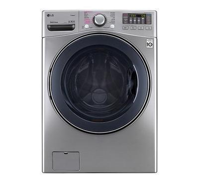 LG Front Load Washing Machine, 18kg Wash-10kg Dry, Silver