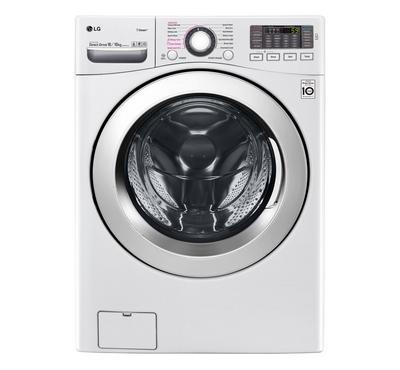 LG Front Load Washing Machine, 16kg Wash-10kg Dry, White