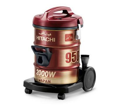 Hitachi 18.0L Vacuum Cleaner Drum Type 20000W Steel Wine Red