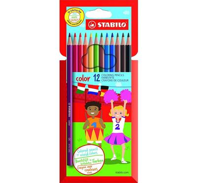 ستابلو، لون كرتون لون الستاغو مجموعة من 10 أقلام ملونة