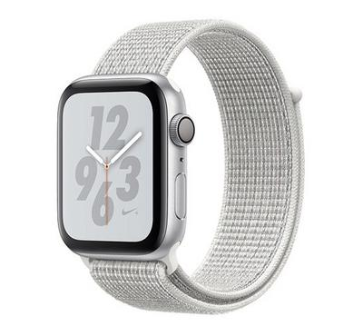 Apple Watch Nike+, Series 4 GPS, 40mm Silver Aluminium Case with Summit White Nike Loop