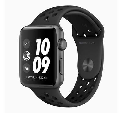 Apple Watch Nike+, Series 3 GPS, 42mm Space Grey Aluminium Case with Black Nike Band