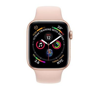Apple Watch Series 4, GPS, 44mm Gold Aluminum Case With Pink Sand Sport Band