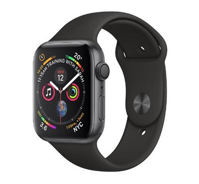 AppleWatch Series4, GPS, 40mm Space Grey Aluminium Case with Black Sport Band