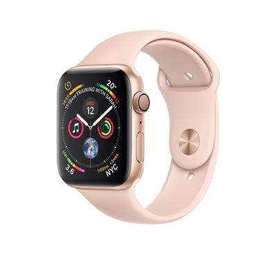 Apple Watch, Series 4 GPS, 40mm Gold Aluminium Case with Pink Sand Sport Band