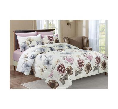 Lemon Microfiber Comforter Set 6 Pcs King Size