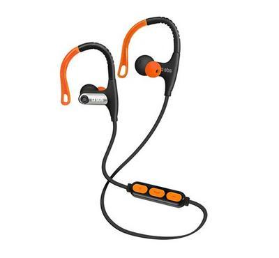 Sport Earphones With Neck Lace, Adjustable Hook Orange