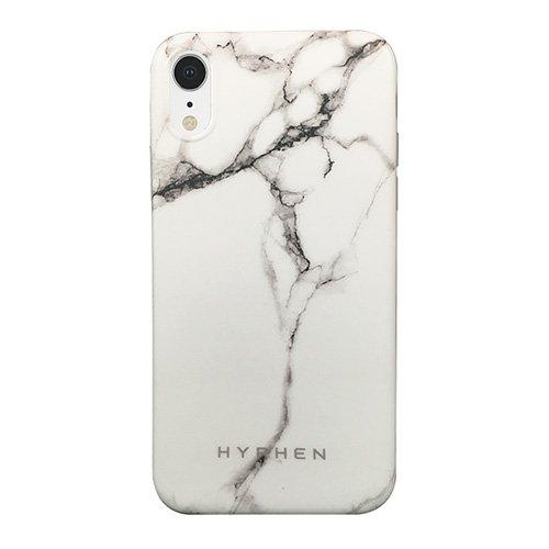 Hyphen, Marble Case for iPhone XR, White