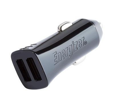 محول سيارة إنرجايزر 4.8A 2usb أسود