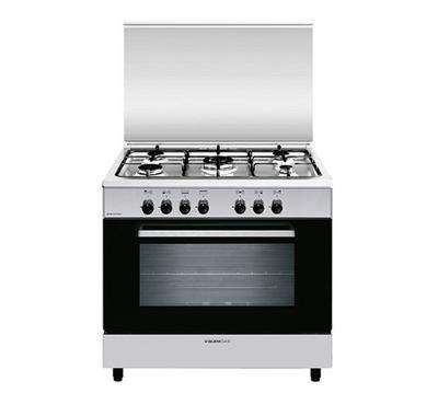 Glemgas 90x60 Freestanding Cooker Stainless steel