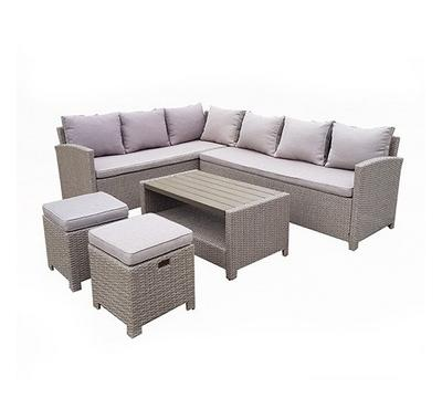 Homz 9 Seaters Patio Set + Coffee + 10 Cm Foam Cushions